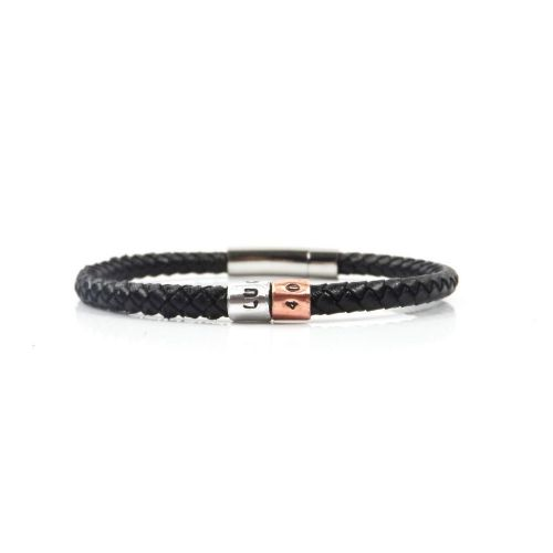 Personalised 40th Birthday Leather Bracelet – Gift Boxed – Free Delivery
